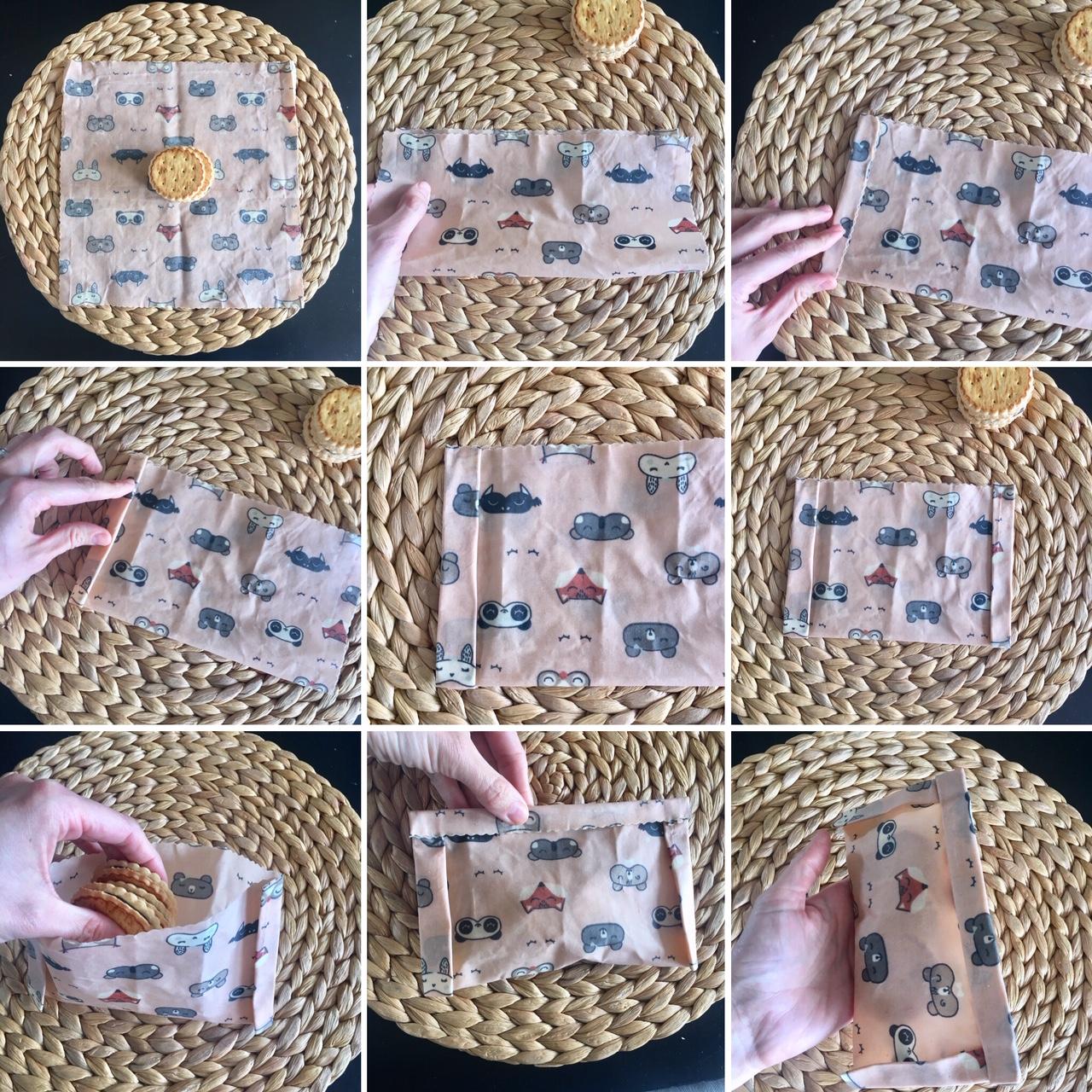 confectionner une pochette avec un wrap